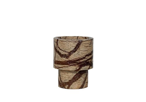 Dome Deco Vase Marble - Brown - S