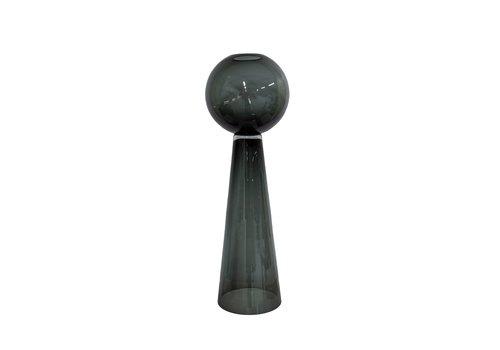 Dome Deco Vase Grey Glass - S