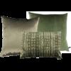 CLAUDI Cushion combination Olive/Army: Croco, Perla & Bellana