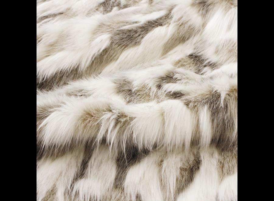 Fur throw 'Snowshoe Hare' 150x180cm or 150x220cm