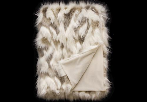 Heirloom Faux Fur plaid - Snowshoe Hare