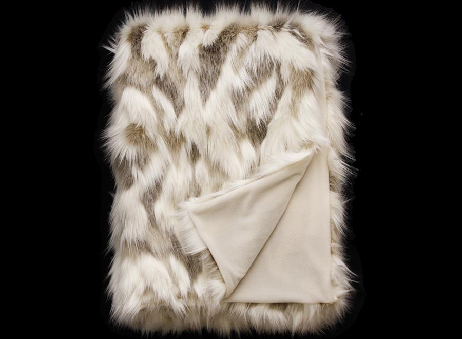 Bontplaid 'Snowshoe Hare'  150x180cm of 150x220cm