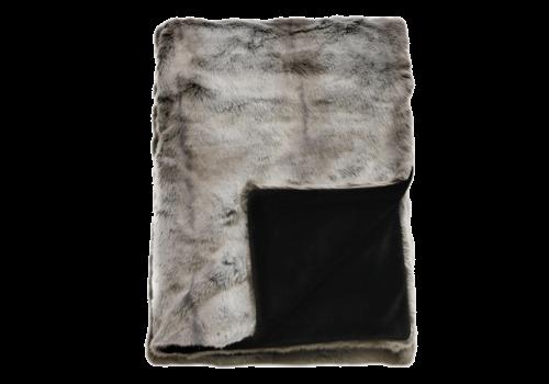 Heirloom Faux Fur plaid - Silver Marten