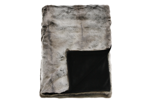 Heirloom / Mulberi by Furtex Faux Fur plaid - Silver Marten