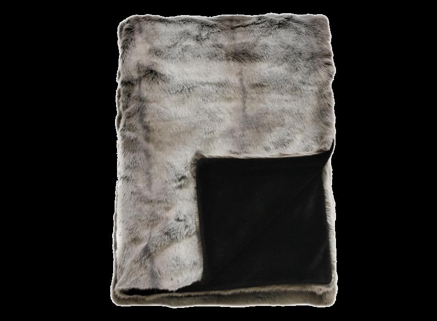 Bontplaid 'Silver Marten'  150x180cm  of 150x220cm