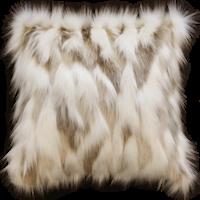 Pelzkissen 'Snowshoe Hare' 45x45cm