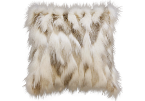 Heirloom / Mulberi by Furtex Faux Fur cushion - Snowshoe Hare
