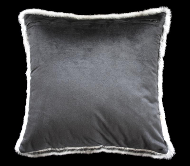Pelzkissen 'Silver Marten' 45x45cm
