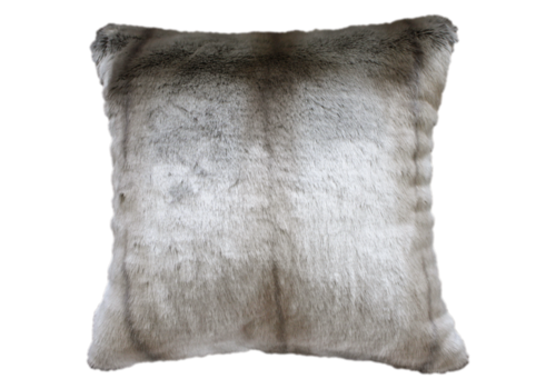 Heirloom / Mulberi by Furtex Faux Fur cushion - Silver Marten