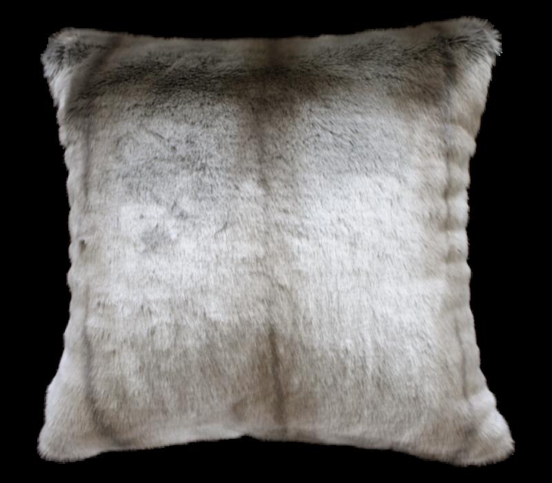 Faux Fur cushion 'Silver Marten' 45x45cm