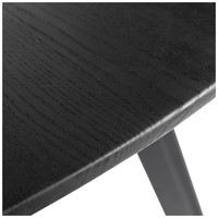 Dining table Space Black Round - Oak