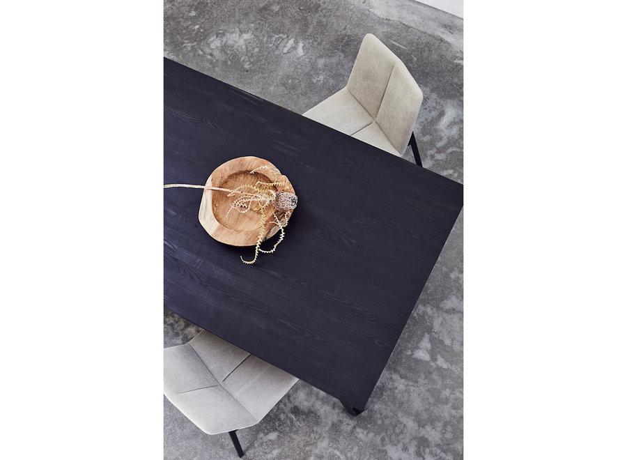 Dinertafel 'Space' Black - Eikenhout