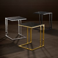Side table 'Cocktail' black marble