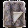 Heirloom Faux Fur plaid 'Mountain Hare'