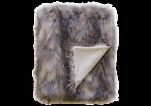 Heirloom Faux Fur plaid - Mountain Hare
