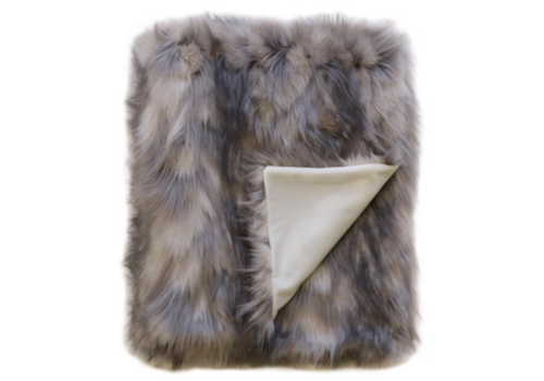 Heirloom / Mulberi by Furtex Faux Fur plaid - Mountain Hare