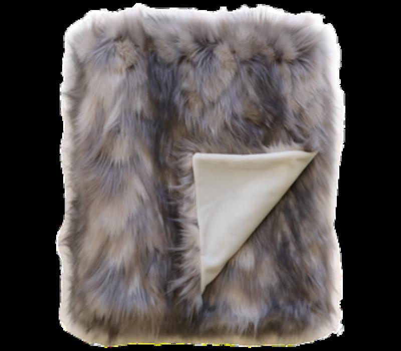 Faux Fur plaid 'Mountain Hare'