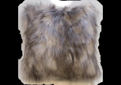 Heirloom Faux Fur cushion - Mountain Hare