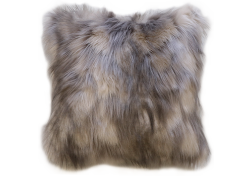 Heirloom / Mulberi by Furtex Faux Fur cushion - Mountain Hare