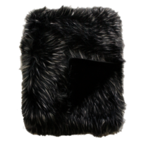 Pelzplaid 'Ebony Plume' 150x180cm