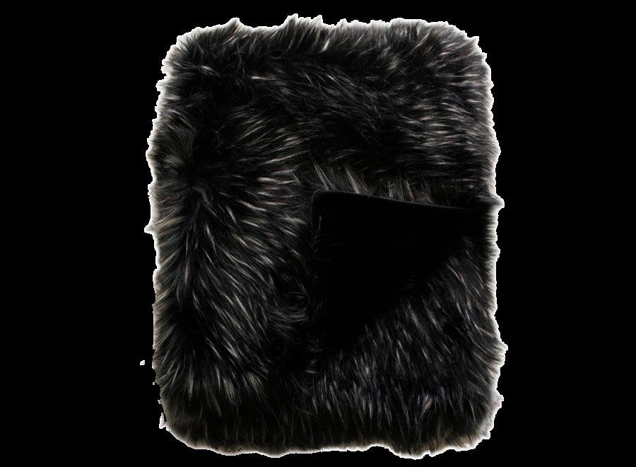 Bontplaid 'Ebony Plume'  150x180cm