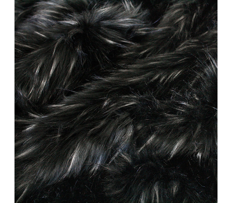 Faux Fur plaid 'Ebony Plume' 150x180cm