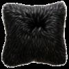 Heirloom / Mulberi by Furtex Faux Fur cushion 'Ebony Plume' 45x45cm