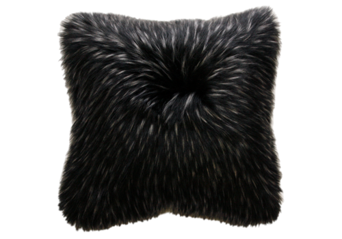 Heirloom / Mulberi by Furtex Faux Fur cushion - Ebony Plume