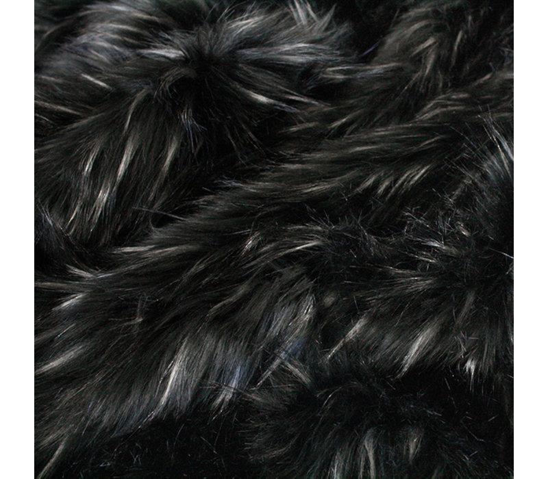 Pelzkissen 'Ebony Plume' 45x45cm