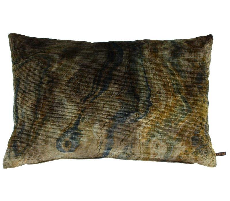 Throw pillow Nerdi Mustard