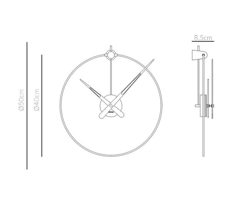'Micro Anda Graphite t' wall clock