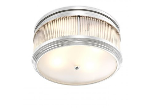 EICHHOLTZ Plafondlamp 'Rousseau' - Nickel
