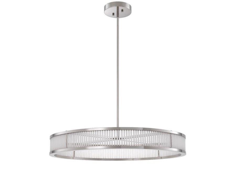 Hanglamp 'Thibaud' - Nickel - L