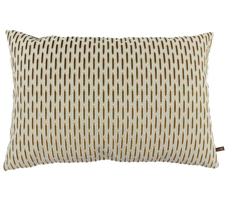 Cushion Palmia in color White / Copper