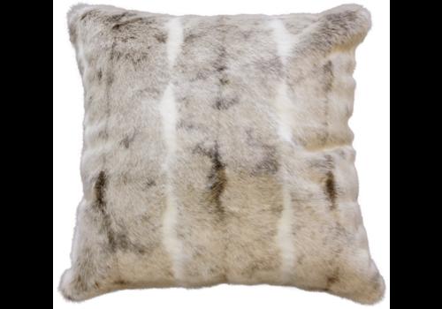 Heirloom / Mulberi by Furtex Fur cushion - Mountain Rabbit