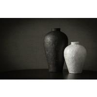 Terrakotta-Vase 'Weiß' - M