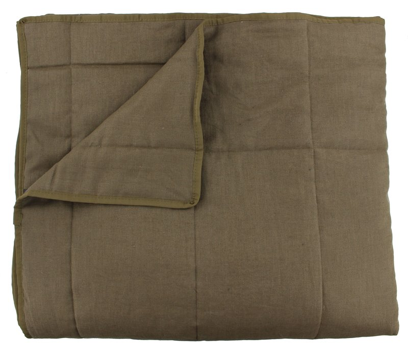 Bedspread Maia Stitched in the color Brown