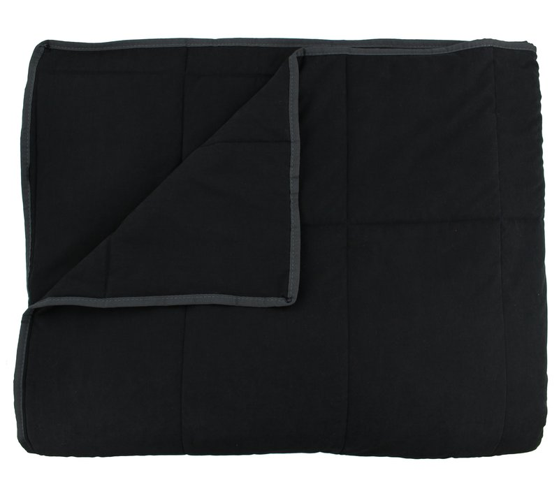 Bedspread Maia Stitched in the color Black
