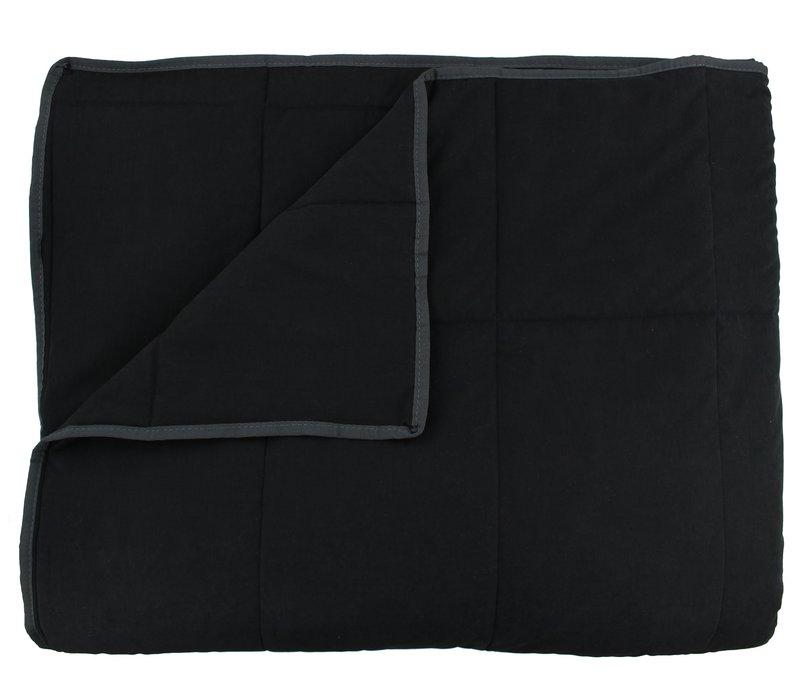 Tagesdecke Maia Genäht in der Farbe Black