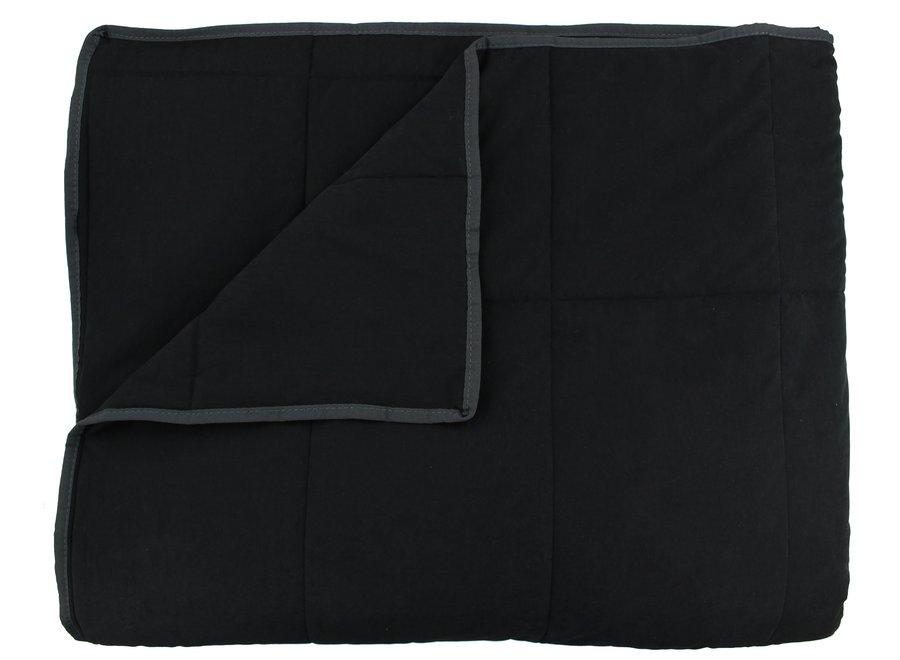 Bedsprei Maia Stitched in de kleur Black