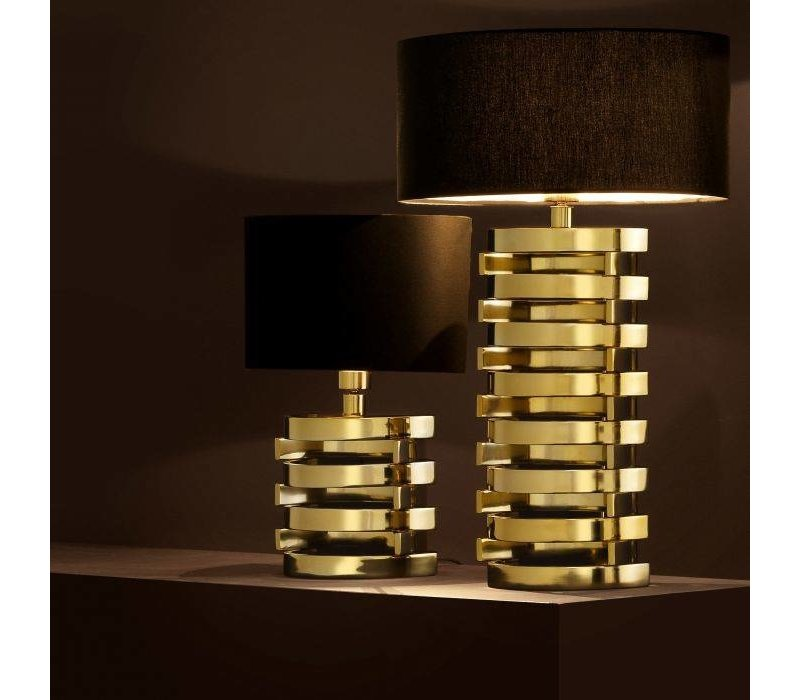 Table lamp Boxter with black oval shaped shade  - L