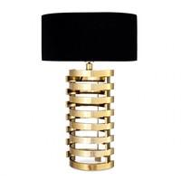 Tischlampe Boxter mit ovalen schwarzen Schirm - L