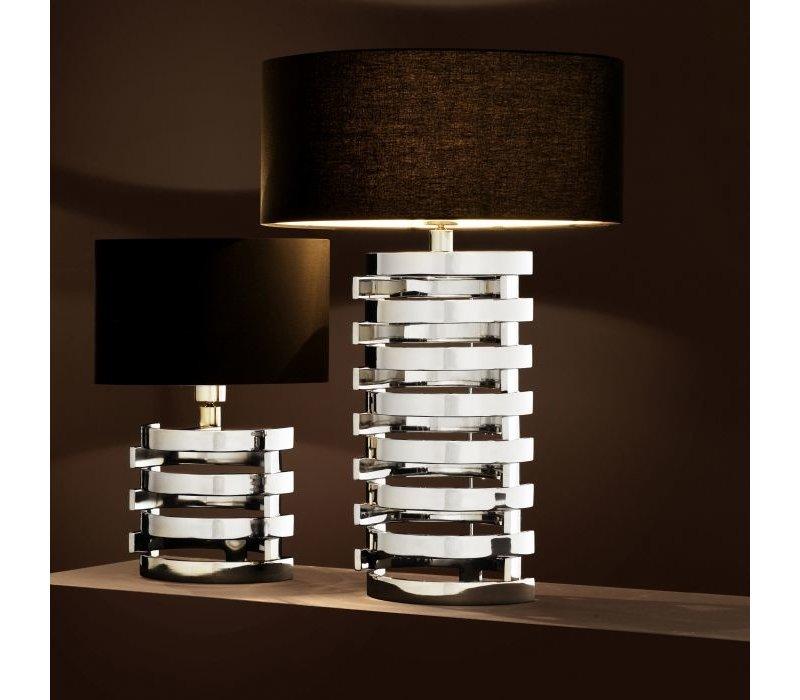 Tafellamp 'Boxter' met zwarte ovale kap - S