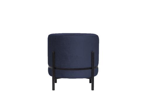 Dome Deco Round pouf 'Baba' Dark Blue - S