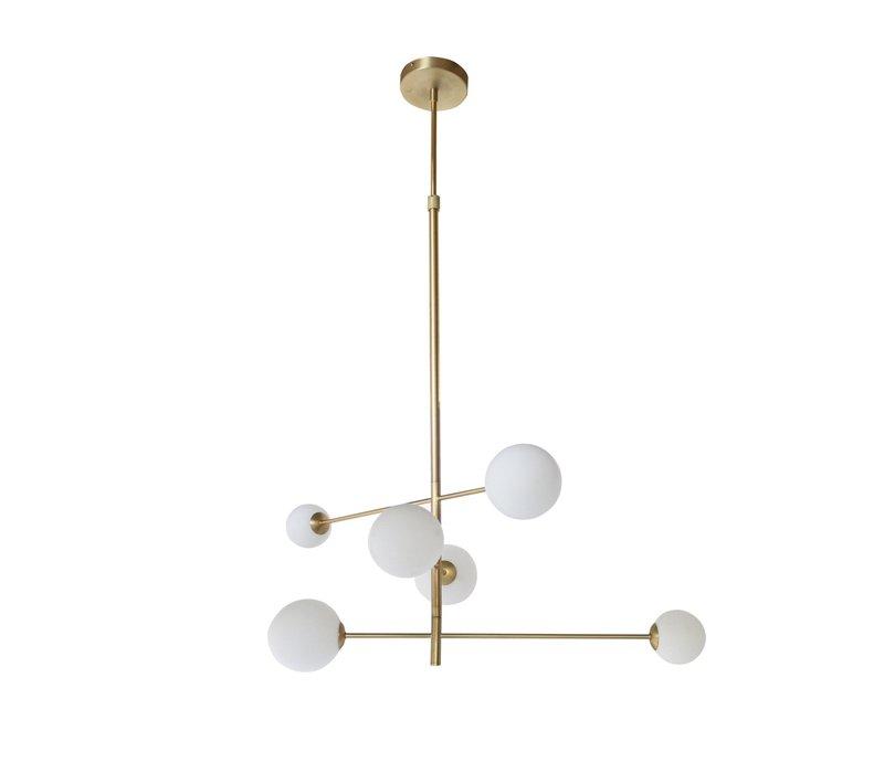 Hängelampe 'Pendant with 6 Bulbs + LED'