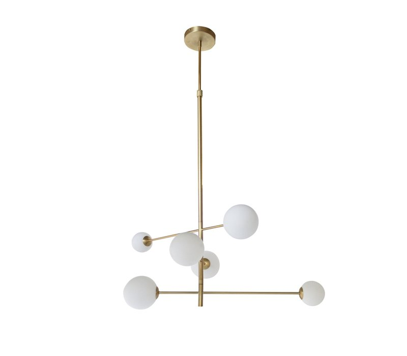 Hanging lamp 'Pendant with 6 bulbs + LED'