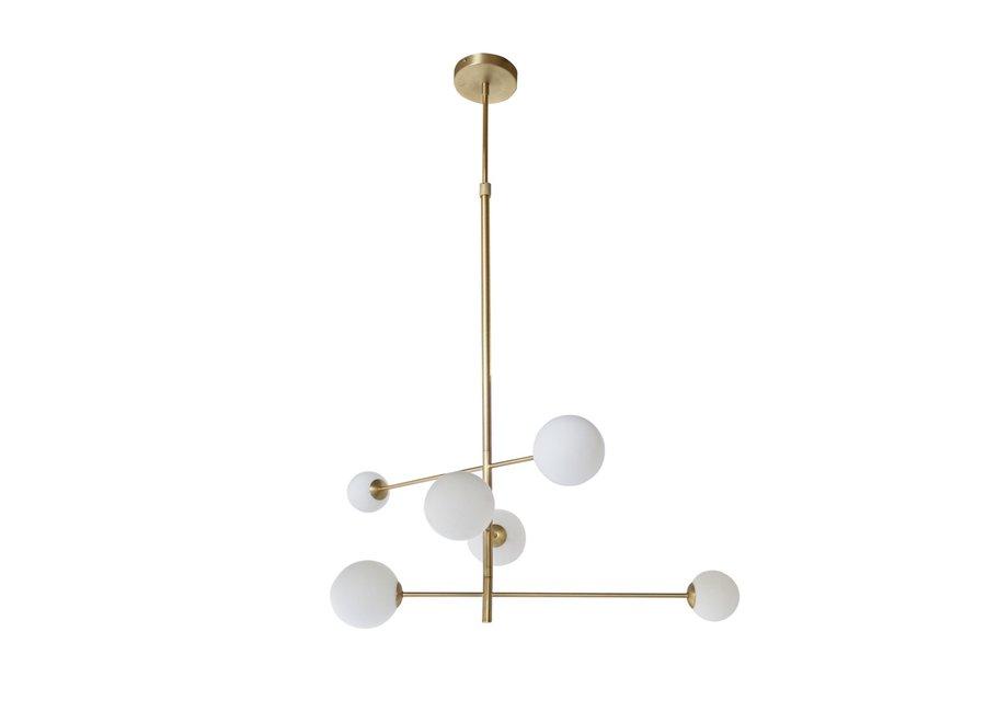Hanglamp 'Pendant with 6 bulbs + LED'