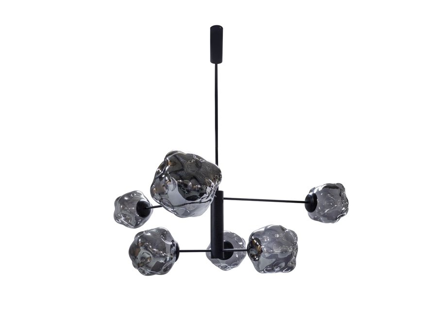 Hanglamp 'Genko' with 6 bulbs + LED