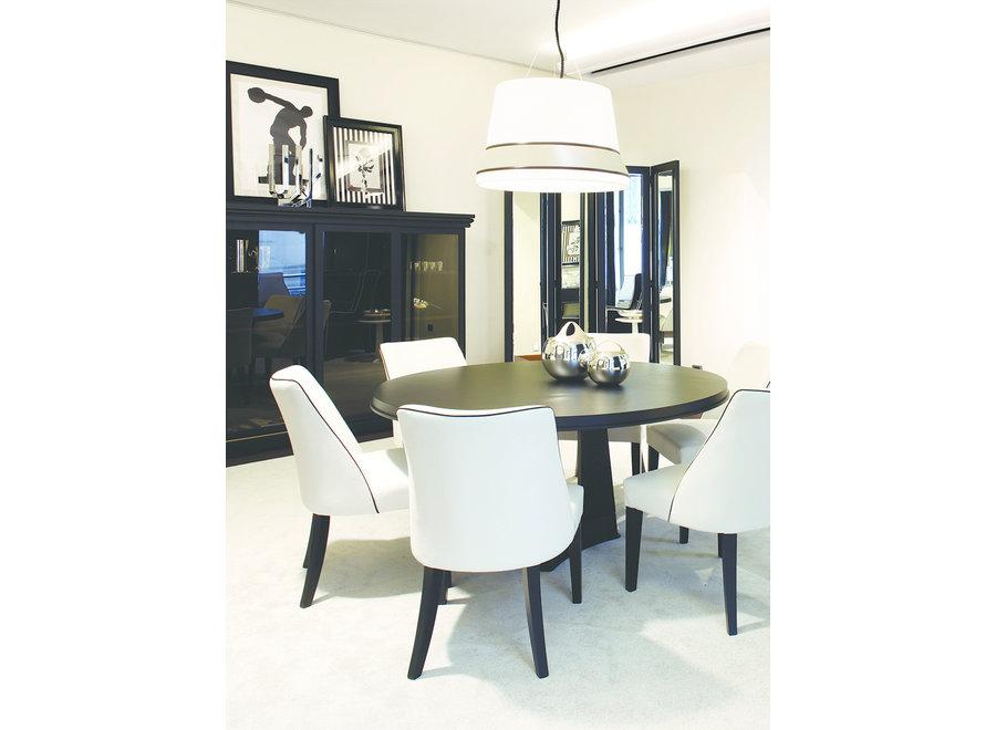 Design hanglamp 'Audrey' gedecoreerd met accenten van zijde