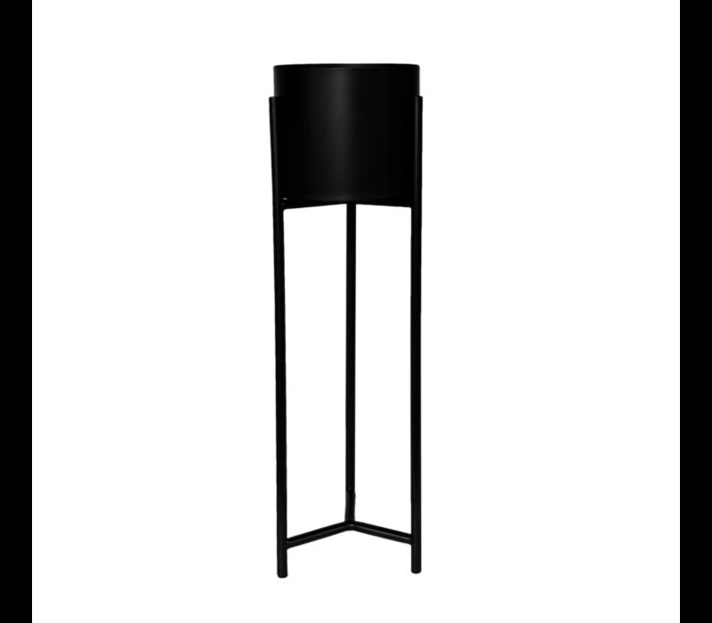 Vase planter black - L